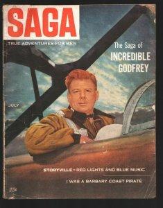 Saga Magazine7/1953-Arthur Godfrey Quentin Reynolds-Victory At Sea TV series-...