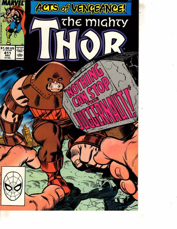 Mighty Thor # 411 VF/NM Marvel Comic Book 1st New Warriors Appearance Key J254
