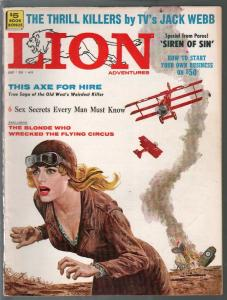 Lion Adventures 7/1960-GGA WWI air war cover-Jack Webb-crime-P