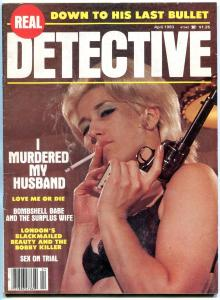 Real Detective Magazine April 1983- Smoking cover- Sex on trial FN