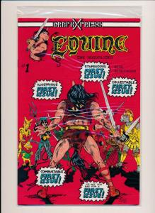 GraphXpress EQUINE the Uncivilized #1 First Issue (1983) ~ VF/NM (PF173)
