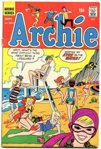 Archie #203 1970-Betty-Veronica-Jughead-swimsuit cover G+