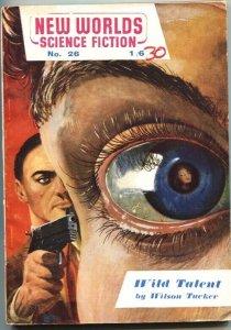 NEW WORLDS-8/1954-BRITISH SCI-FI PULP-WILSON TUCKER-EYE BALL COVER