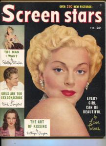 Screen Stars-Lana Turner-Joan Crawford-Kirk Douglas-Bette Davis-Feb-1950