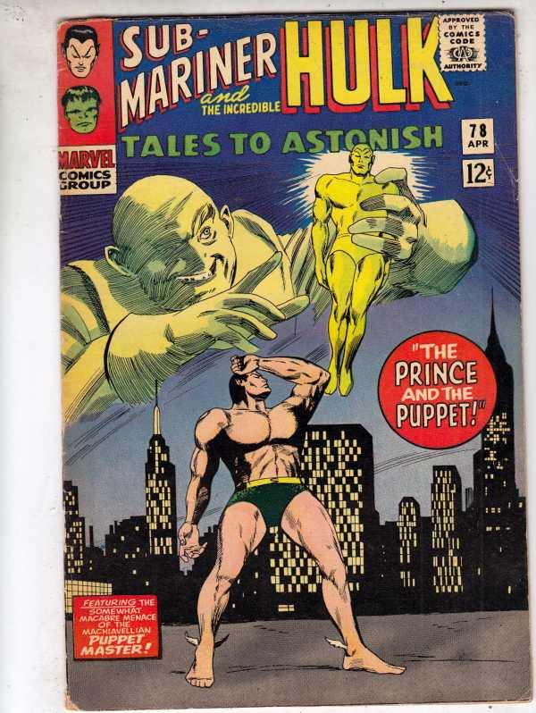 Tales to Astonish #78 (Apr-66) FN+ Mid-High-Grade Incredible Hulk, Namor the ...