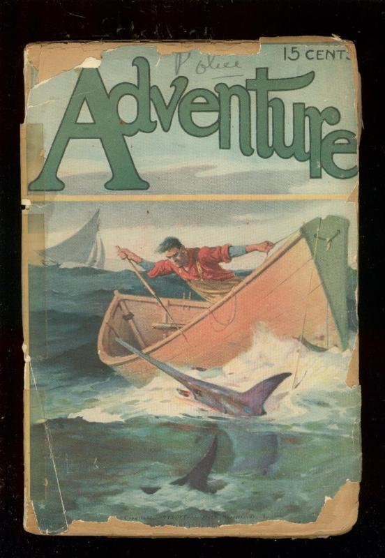 ADVENTURE-PULP-MAY 1913-SWORDFISH COVER-TALBOT MUNDY P