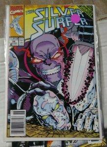 Silver Surfer # 59  1991 Marvel thanos  jim starlin infinity gauntlet