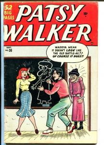 Patsy Walker #30 1950-Atlas-teen humor-spicy good girl art poses-Kurtzman-VG