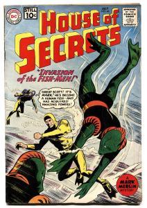 HOUSE OF SECRETS # 46 comic book FROGMAN COVER INVASION FISH-MEN