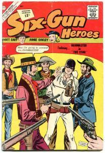 Six-Gun Heroes #68 1962- Annie Oakley- Wyatt Earp- Western VG