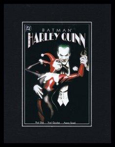 Batman Harley Quinn Framed 11x14 Repro Cover Display Joker