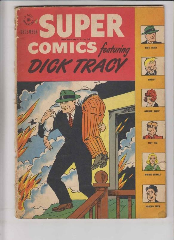 Super Comics #103 low grade - december 1946 - dick tracy - orphan annie - dell
