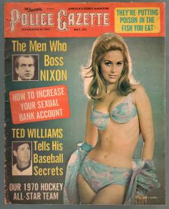 National Police Gazette 5/1970-Judy Jones-Mia Farrow-Nixon-exploitation-G