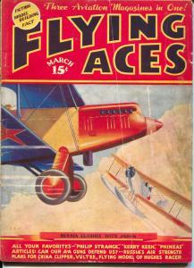 Flying Aces 3/1936-Capt Philip Strange-Kery Keen-hero pulp-VG