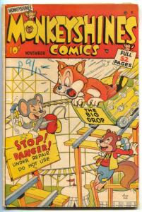 Monkeyshines #23 1948- Golden Age- Rollercoaster cover FN