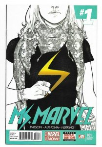 Ms Marvel #1 NM 9.4 High Grade Rare 7th Print Variant Cover Kamala Khan Series