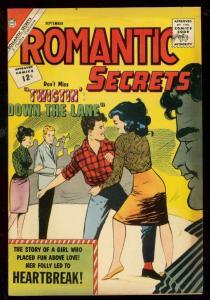 ROMANTIC SECRETS #40 1962-CHARLTON-THE TWIST-RARE ISSUE FN/VF