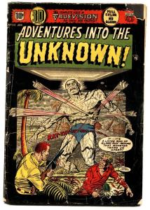 ADVENTURES INTO THE UNKNOWN #54 comic book 1954-3D issue-precode horror