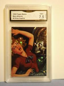 1994 Topps Matrix MARS ATTACKS! Card #2 Prize Captive Graded NM+ 7.5 Rare L@@K!!