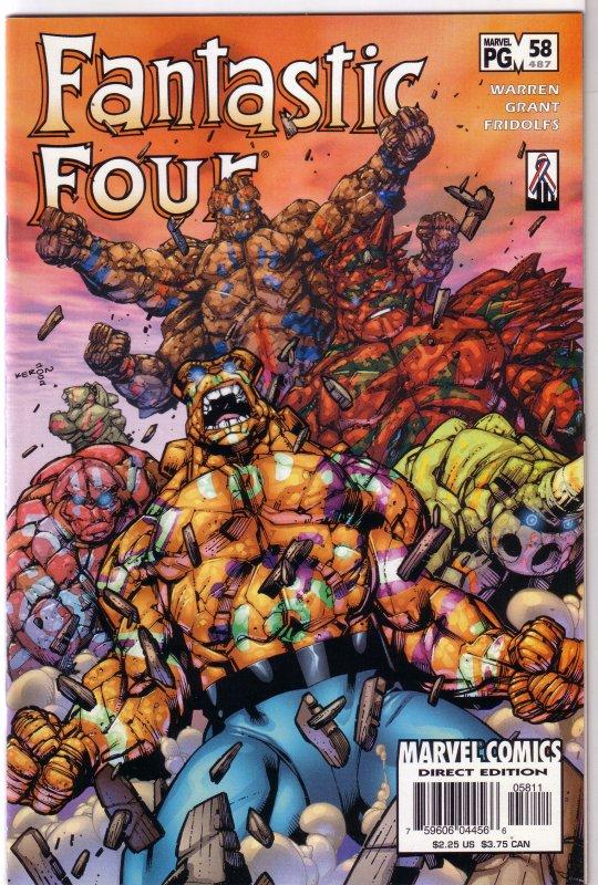 Fantastic Four (vol. 3, 1998) #58/487 FN Adam Warren/Keron Grant