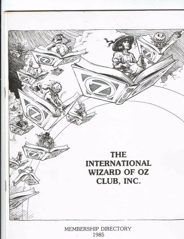 Wizard Of Oz Oziana 1986 1986 Convention Map Munchkin Con Trading Post ++++ BN13