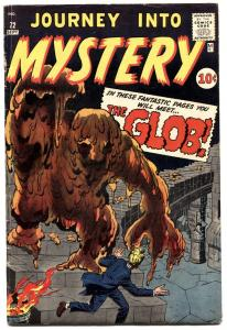 JOURNEY INTO MYSTERY #72 1961-MARVEL-GLOB-JACK KIRBY-STEVE DITKO-VG/FN