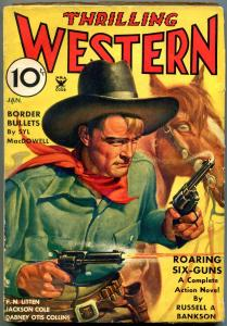 Thrilling Western Pulp January 1935- Jackson Cole- Syl MacDowell G