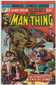 Man-Thing #14 (Mar-75) VF- Mid-High-Grade Man-Thing