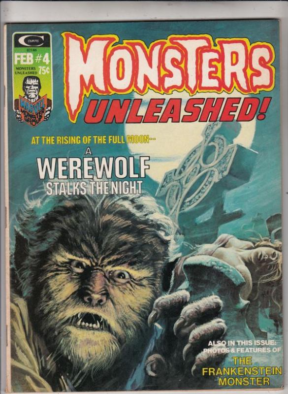 Monsters Unleashed Magazine #4 (Feb-74) VF High-Grade