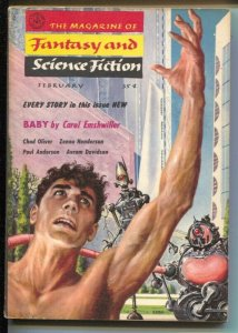 Magazine of Fantasy & Science Fiction 2/1958-Mercury-Carole Emshwiller-Robert...
