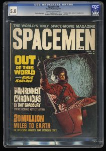 Spacemen #8 CGC VG/FN 5.0 Cream To Off White Ray Bradbury!