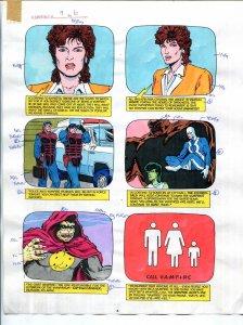 Elementals #9 Page #6 Original Color Guide Ken Feduniewicz