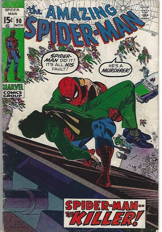amazing spider man #90 vg+ $10.00