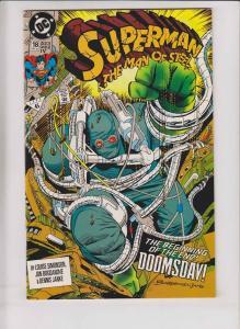 Superman: the Man of Steel #18 VF/NM doomsday - 4th print - fourth printing rare
