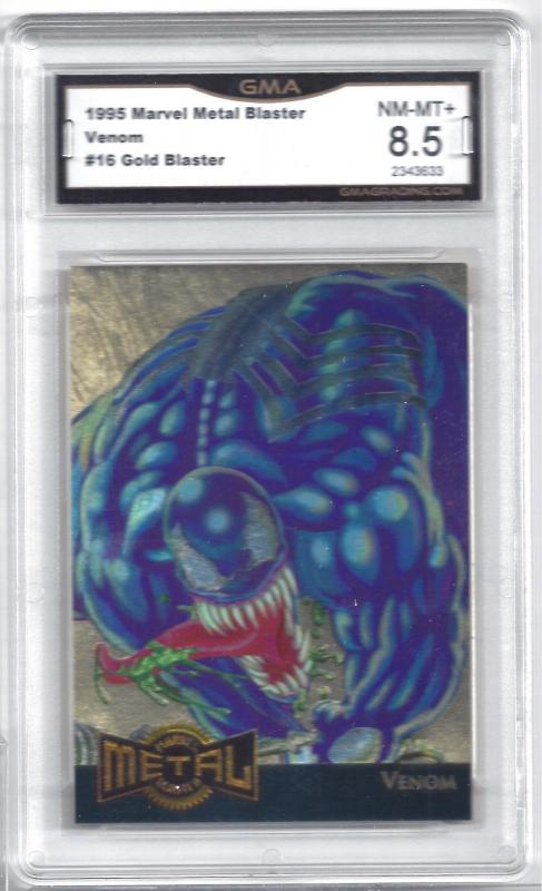 1995 Marvel Metal Blaster Venom #16 Gold Blaster - Graded 8.5