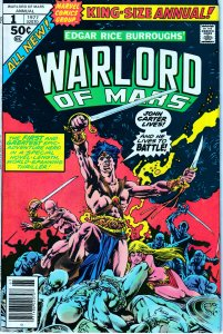 John Carter Warlord of Mars(Marvel) # 12, Annual # 1,2