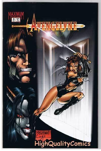 AVENGELYNE #3, NM+, Femme Fatale, Good girl, 1995, more indies in store