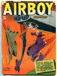 AIRBOY COMICS V.9 #1 1952-FLYING SPARTANS-HEAP-NITRO G-