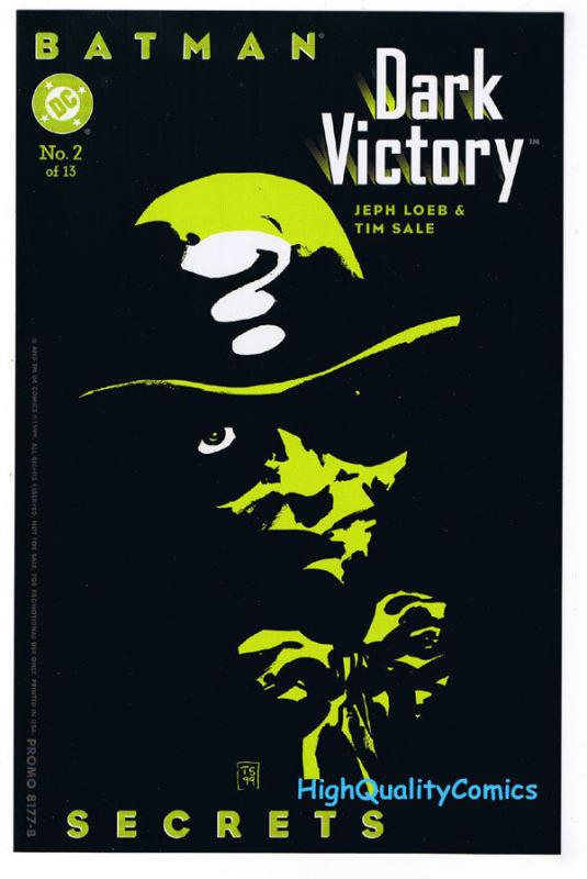 BATMAN DARK VICTORY 2 Insert, promo, NM, Riddler, 1999, more promos in store