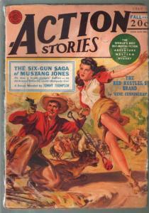 Action Stories-Fall 1949-Norman Saunders Good Girl Art cover-Dan Cushman jung...