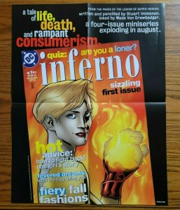 22 x 17 INFERNO #1 Hot Sizzling DC Comics Promo Poster NO PIN HOLES NEW