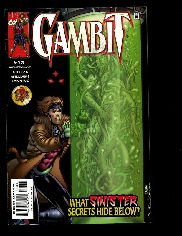 Lot Of 10 Gambit Marvel Comics # 10 11 12 13 14 15 16 17 18 19 Rogue X-Men EK10