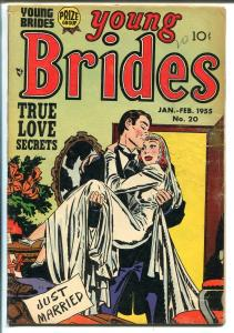 YOUNG BRIDES #20 1955-PRIZE-LAST PRE-CODE-JUST MARRIED-BOB POWELL-vg minus