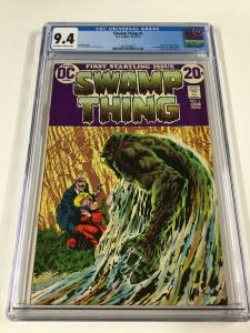 Swamp Thing 1 Cgc 9.4 Ow/w Pages 1st First Matt Cable 2031404007