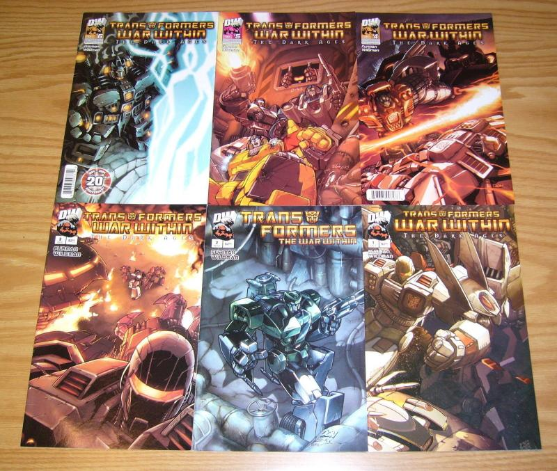 Transformers: the War Within - Dark Ages #1-6 VF/NM complete series - furman set