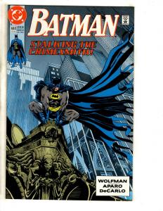 Lot Of 5 Batman DC Comic Books # 444 445 450 454 456 Joker TD11