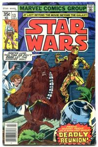 STAR WARS COMICS #13 1978- Chewbacca vs. Luke & the droids. VG/FN
