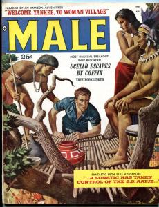 Male Magazine April 1959-JAMES BAMA & GEORGE GROSS ART FN