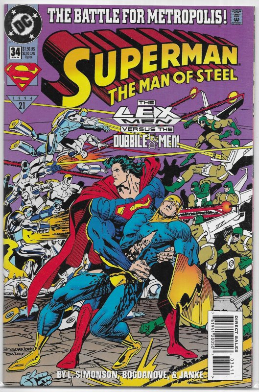Superman  : Man of Steel   # 34 VF/NM (Battle for Metropolis)