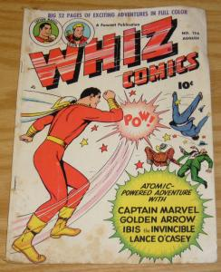 Whiz Comics #124 GD/VG august 1950 - captain marvel - ibis the invincible